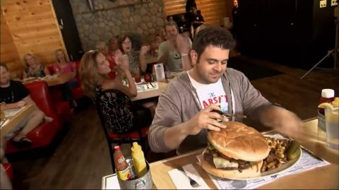 Adam Battles Against This 7 LB Burger